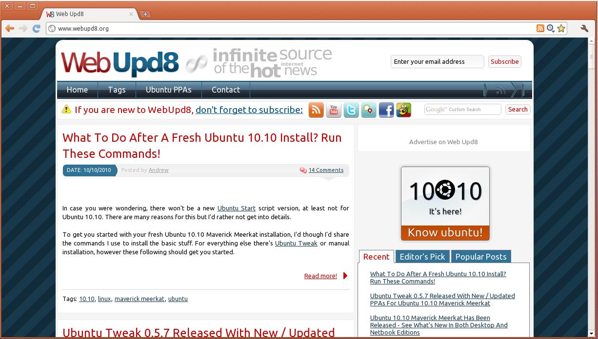 October 2010 ~ Web Upd8: Ubuntu / Linux blog