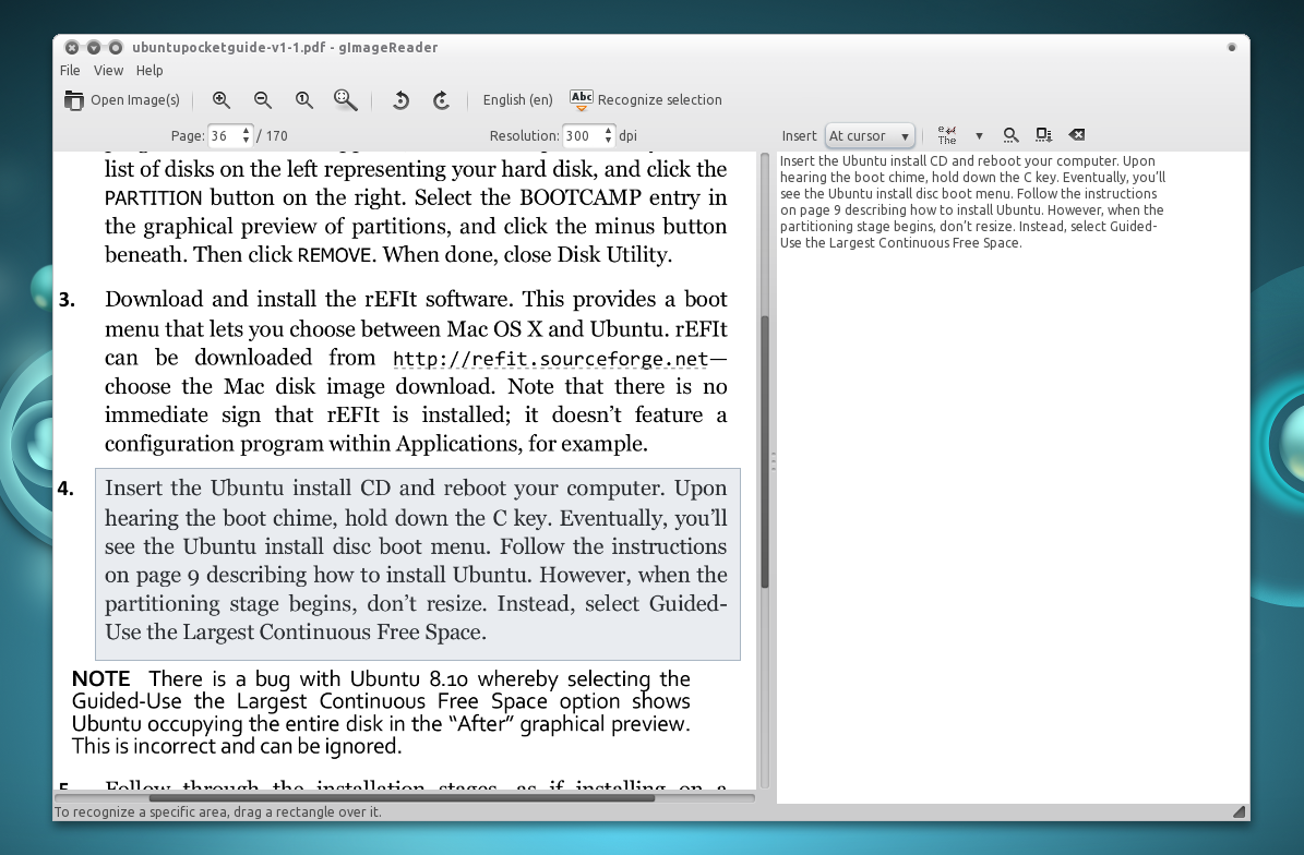 GImageReader Is A Graphical GTK Frontend To Tesseract Ocr Free Software Optical Character Recognition OCR Engine