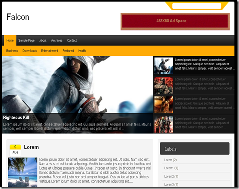 Falcon Blogger Template