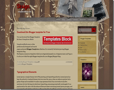 Design Blogger Template
