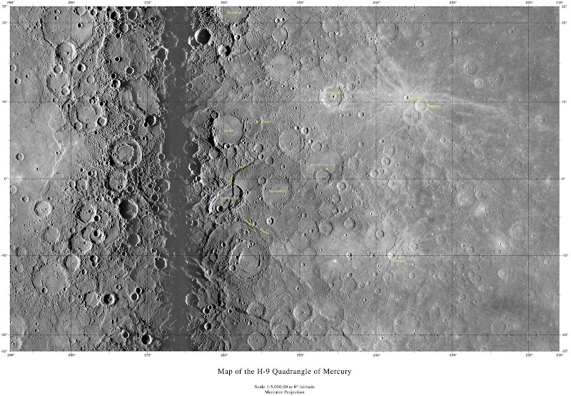 planetary names 15 millionscale maps of mercury - HD 3765×2607