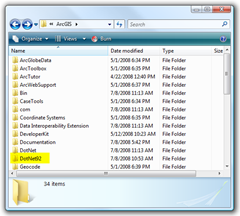 The ArcGIS Installation Folder