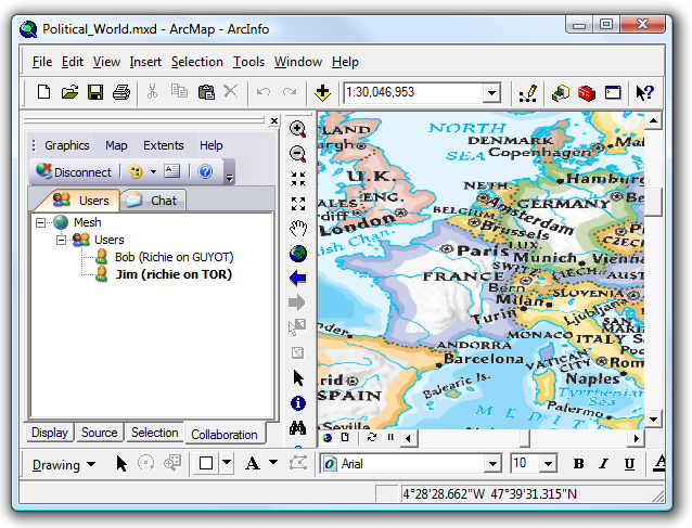 G2G for ArcGIS Desktop - Connected to the Mesh