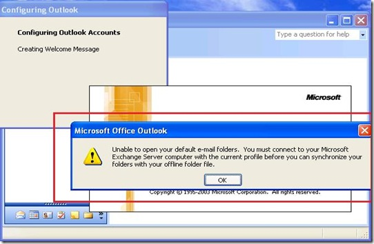Can't Connect Outlook 2003 To Exchange 2010  Unable To Open Your