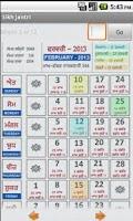 Screenshot of NanakShahi Calendar-Jantri2013