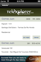 Screenshot of Telexplorer - Guía Argentina