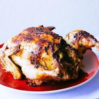 Stuffed Roasted Lemon Herb Chicken