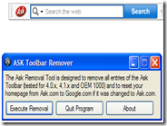 Disinstallare la toolbar di Ask dal PC con Ask Toolbar Remover