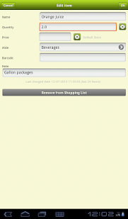 Shopper Grocery Shopping List - screenshot thumbnail
