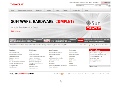 the 1st oracle.com for sun.com