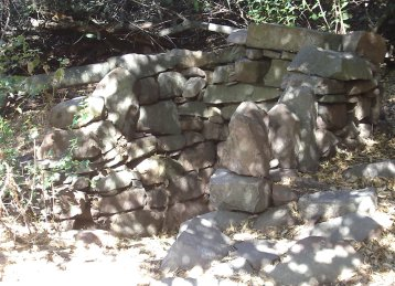 stones stacked for old walls
