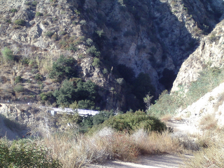 The bridge along Mt. Wilson Toll Road across Eaton Canyon.