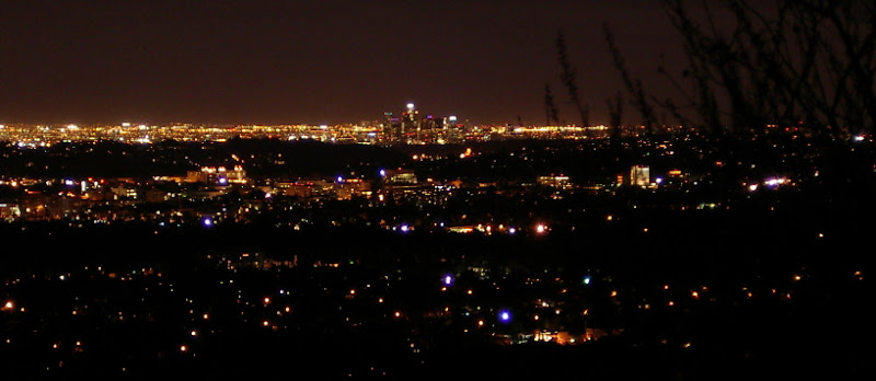 LA lighted for the night.