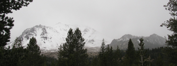 Mt. Lassen about to get whiter.