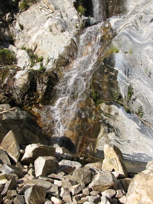 Just the lower falls, Ribbon Rock.