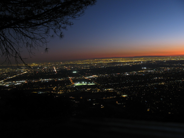More urban sprawl looking out over the Inland Empire.