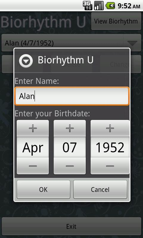 Biorhythm U - screenshot