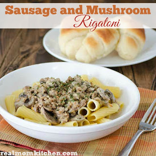Sausage Mushroom Rigatoni