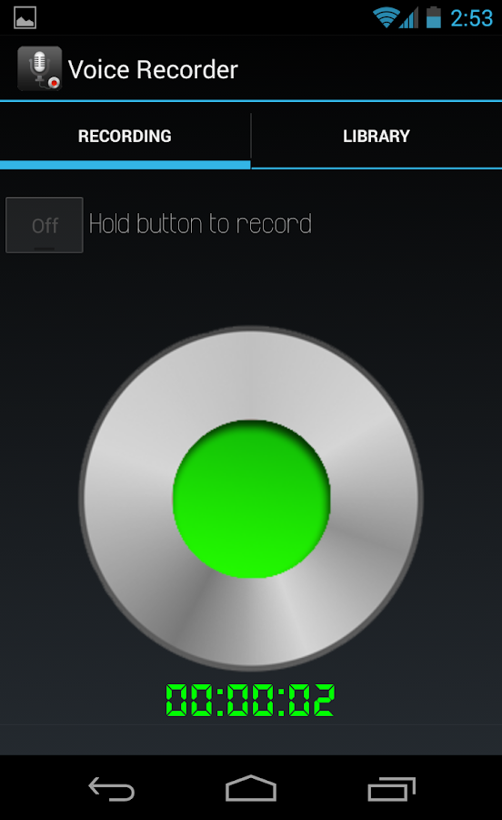 Whizz Voice Recorder - screenshot
