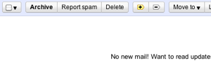 Gmail inbox empty