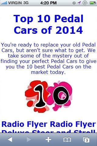 Pedal Car Reviews