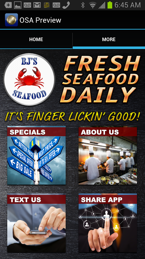 BJs Seafood- screenshot