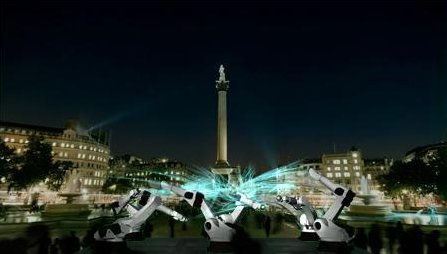 The Outrace on the Trafalgar Square