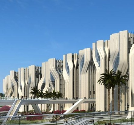 Zaha Hadid will construct Stone Towers in Cairo