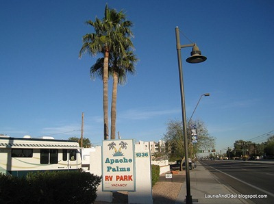 Apache Blvd and sign
