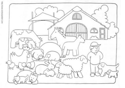 Dibujos Para Colorear Granja De Animales Imagui