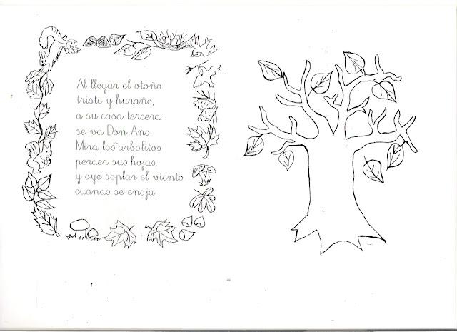 Poemas De Otoño Con Dibujos Para Pintar