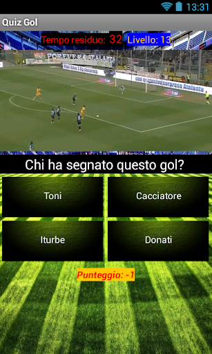 Quiz Gol Calcio highlights