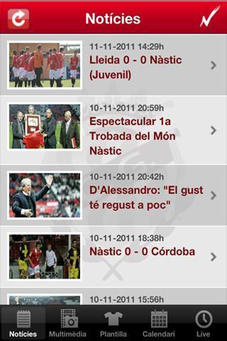 Nàstic de Tarragona - screenshot