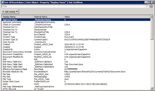 Get all column values from a SharePoint item using PowerShell | Get
