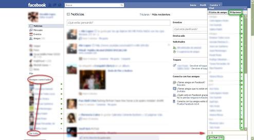 Facebook Chat Amigos Conectados