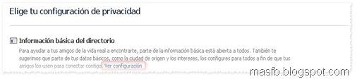 Información básica Facebook