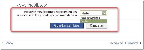 Configurar Privacidad para Anuncios Facebook