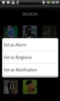 Screenshot of Sounds of Birds Ringtones