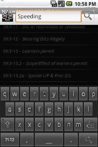 NJLAW Motor Vehicle - Title 39 Screenshot