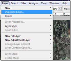 Photoshop Layer menu