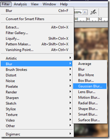 Gaussian blur selection