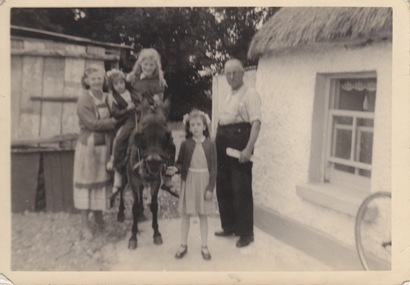 My Mother, me, Jean (both on the ginnet) Maureen and Uncle Tom.  Approx 1956