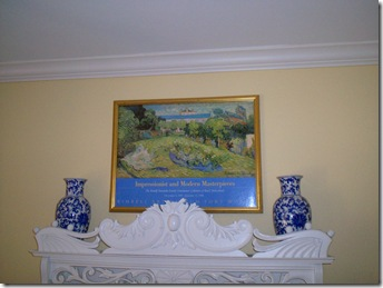 Top of White Mantel