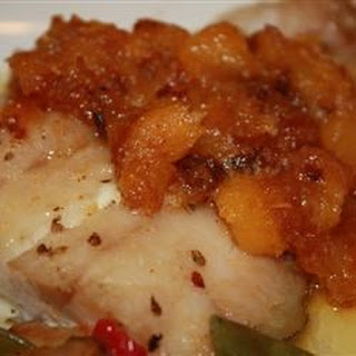 Grilled Grouper with Mango Butter.