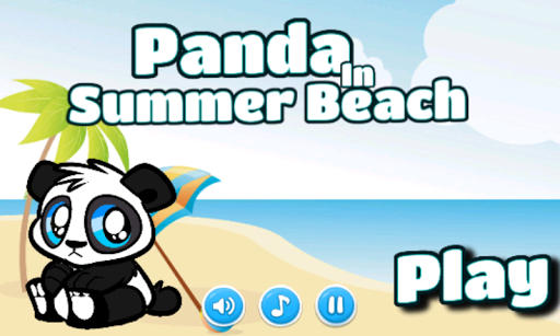 Panda In Summer Beach