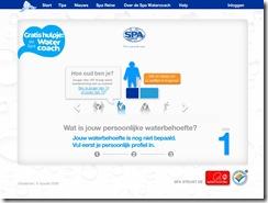 Spa Water Coach website