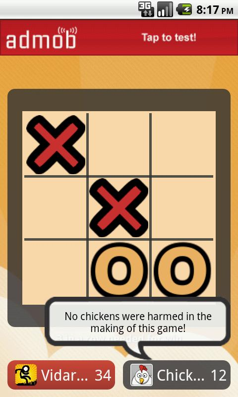 Chicken Tic-Tac-Toe! (Free) - screenshot