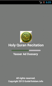 Holy Quran Recitation 3 screenshot 0