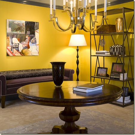 Farrow and Ball Yellow foyer