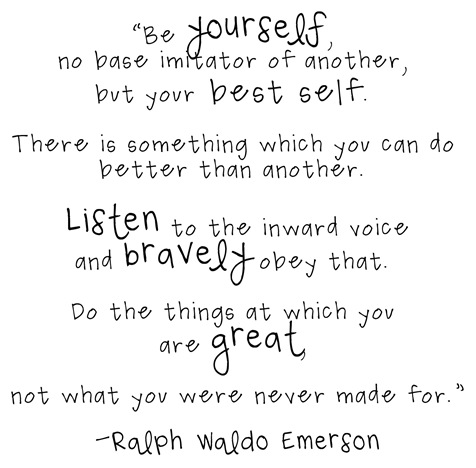 yourself ralph waldo emerson